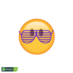 Party Emoji mit Rasterbrille